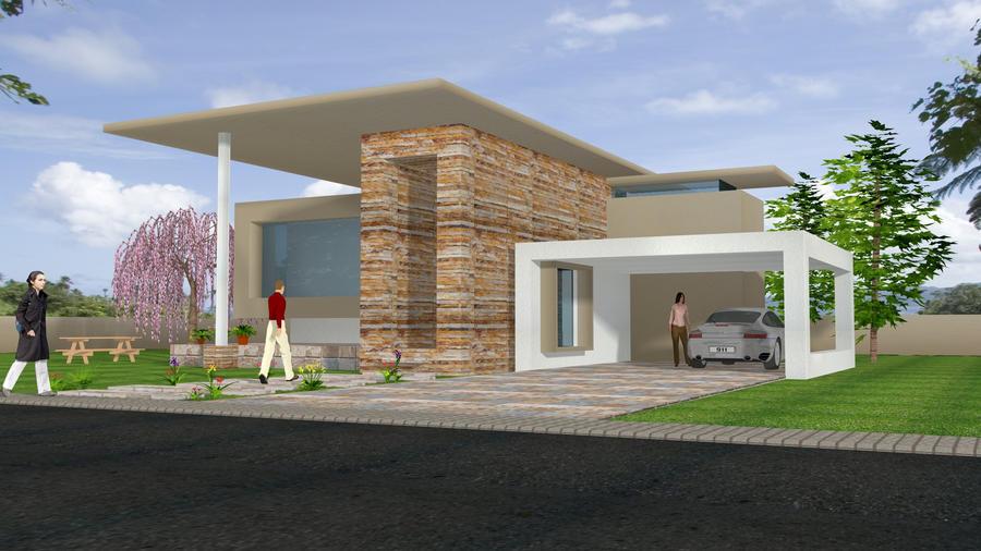 Minimalist house 2 by tsukilion on deviantart for Minimalist house uk
