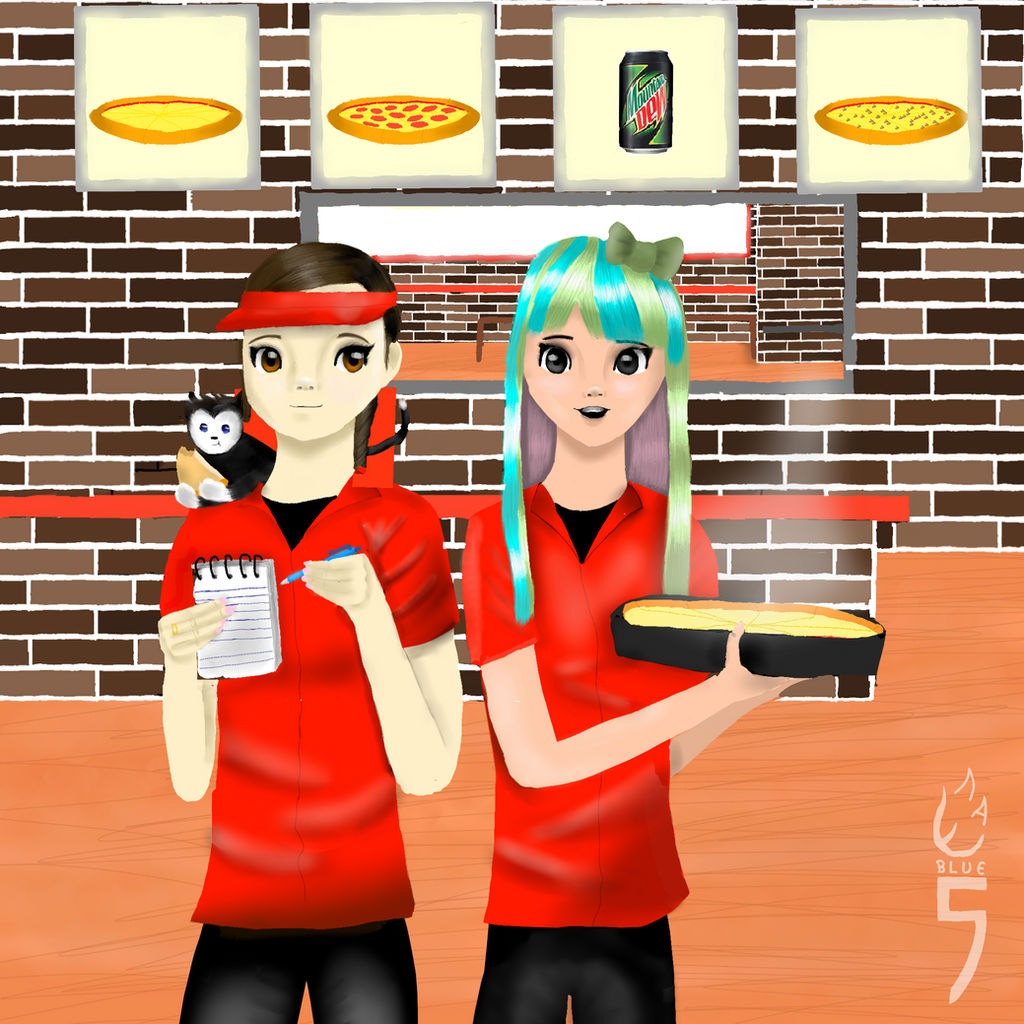 Roblox Animation Pizza Place Roblox Work At A Pizza Place Fanart Not Really By Evabluefive On Deviantart