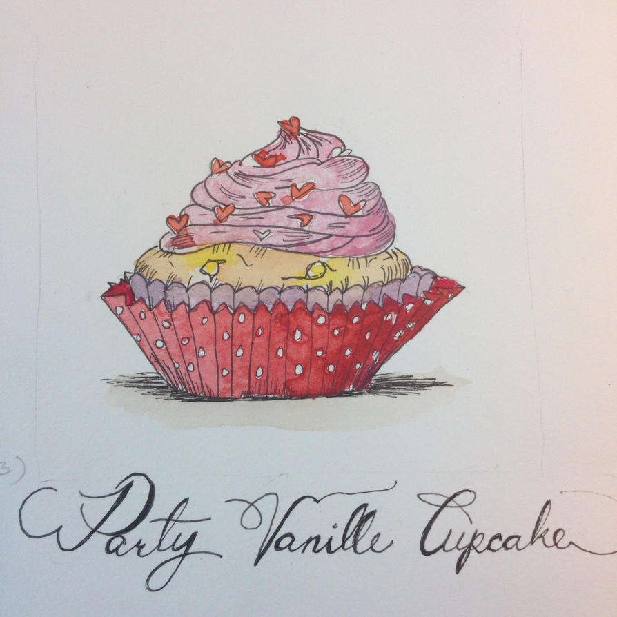 Party Vanille Cupcake (cupcakes part3.)  by Laura4Christ