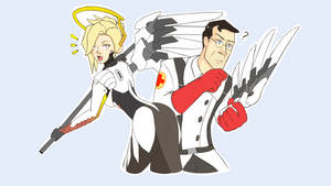 Overwatch Mercy and TF2 medic