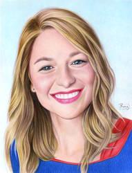 Melissa Benoist as Supergirl by RayPelesko