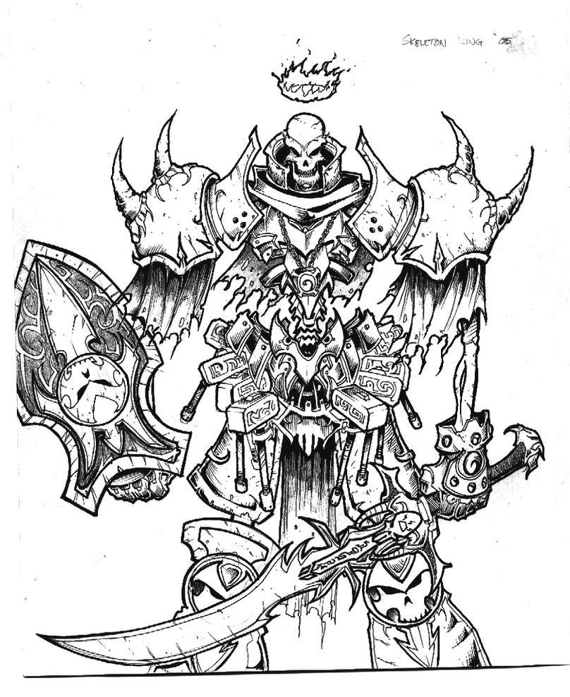 Skeleton king by inuji on deviantart for Skeleton king tattoo