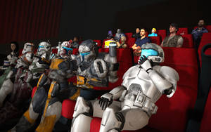 Watching a movie at the cinema! by Archangel470