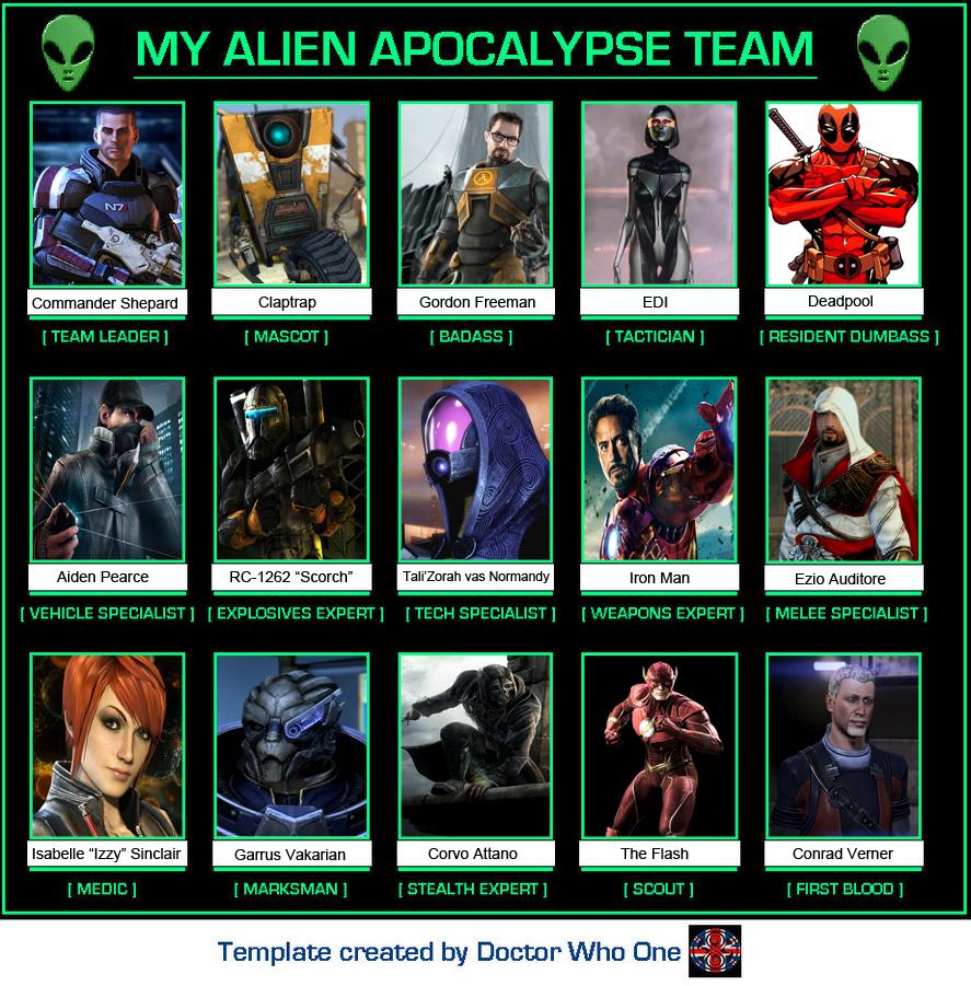 My Alien Apocalypse Team by benoski