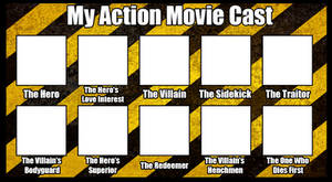 Action Movie Cast Template