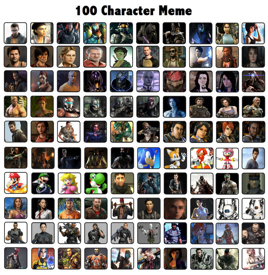 100 Character Meme by benoski