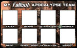 My Fallout Apocalypse Team Template