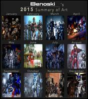 My 2015 Art Summary by Archangel470