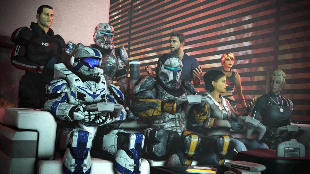 Game Night at Shepard's Apartment [SFM] by benoski