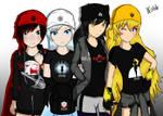Team RWBY Dressed in Merchandise
