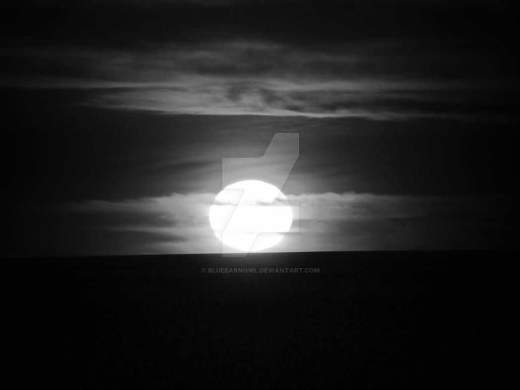 Monochrome Sunset by Bluebarnowl