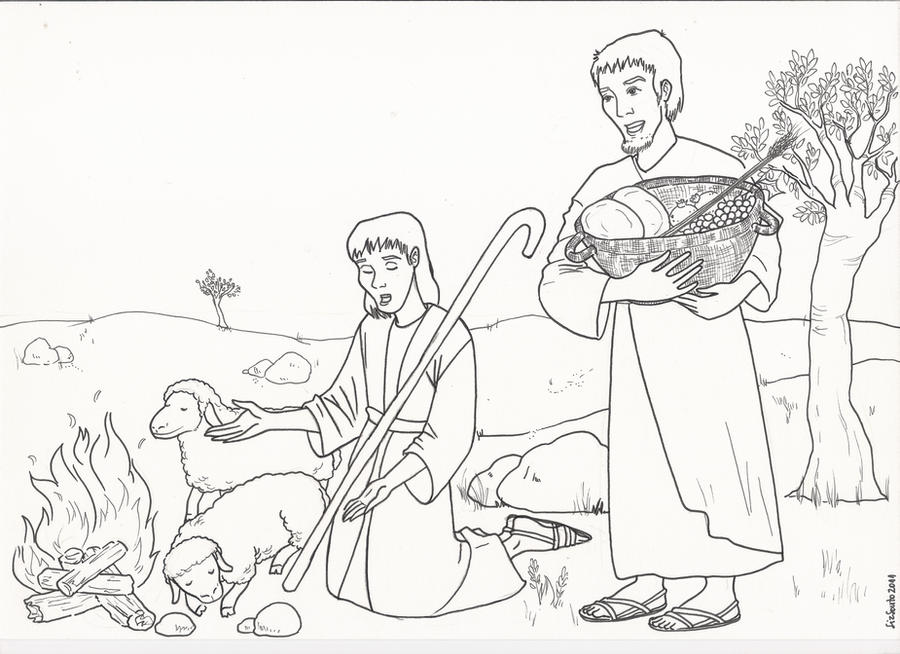 Cain and abel printable coloring pages coloring pages for Cain and abel crafts