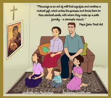 Family praying together