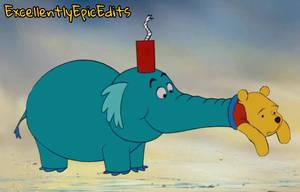 Winnie the Pooh Stuck In A Heffalump