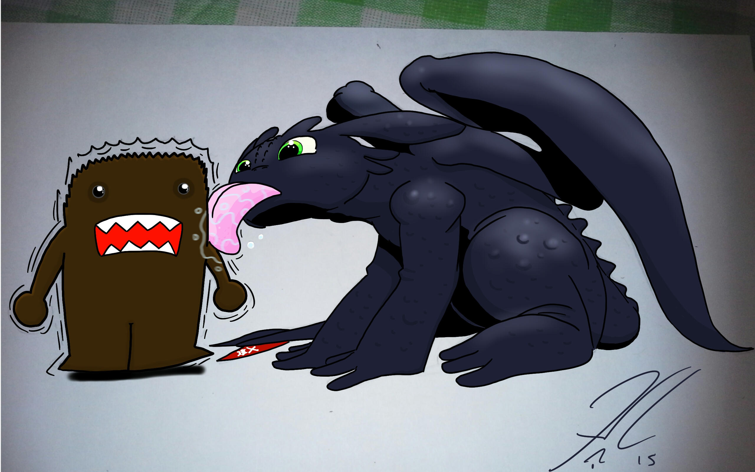 domo toothless by Jamonred