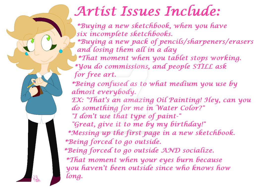 Art Struggles by KattyKrafter