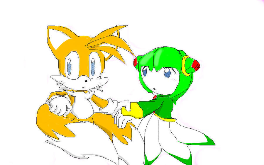 Tails and cosmo by sonicisblue8u on deviantart