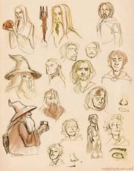 LotR Doodles - Fellowship Edition