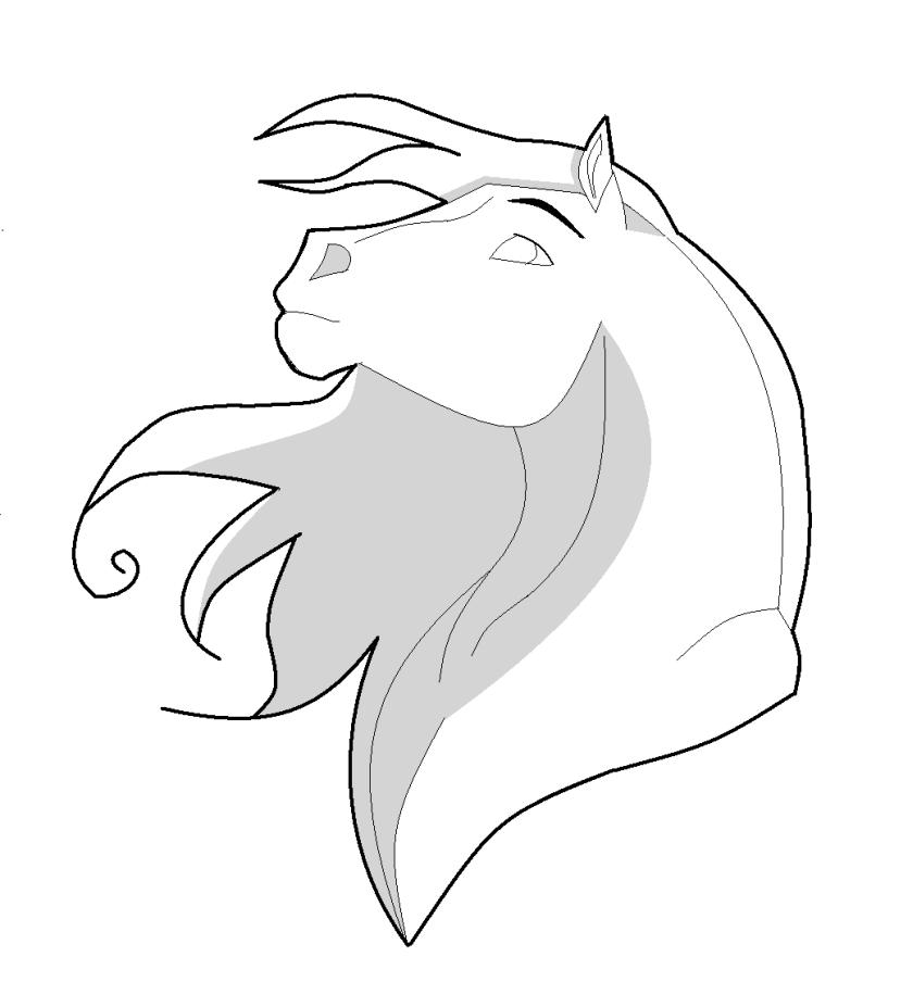 Horse Lineart: Designish by SaddlePatch