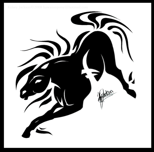 -Tribal Horse- by SaddlePatch