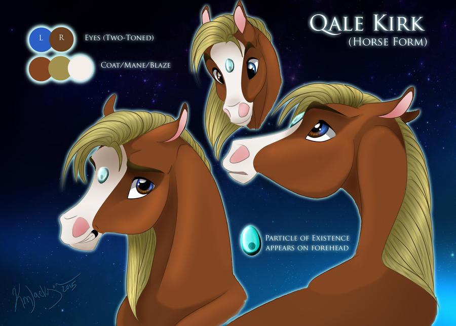 STIU: Qale Kirk (Horse Form Character sheet) by SaddlePatch