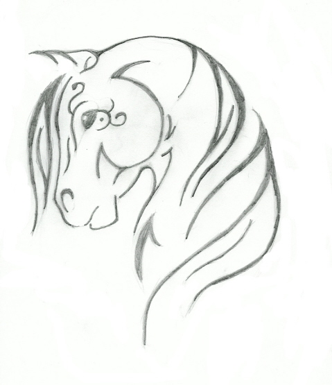 Line Drawing Horse Tattoo : Tribal horse design by saddlepatch on deviantart