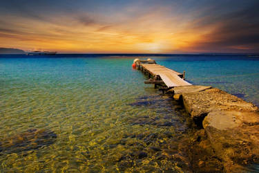 Tsougria Beach by Blueberryblack