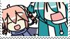 chibi teto and miku stamp by mikuragi