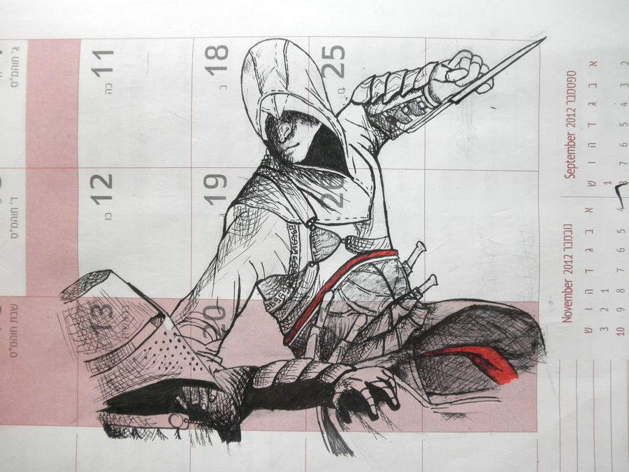 Altair impaling a Templar (1) by Indiana8Jones