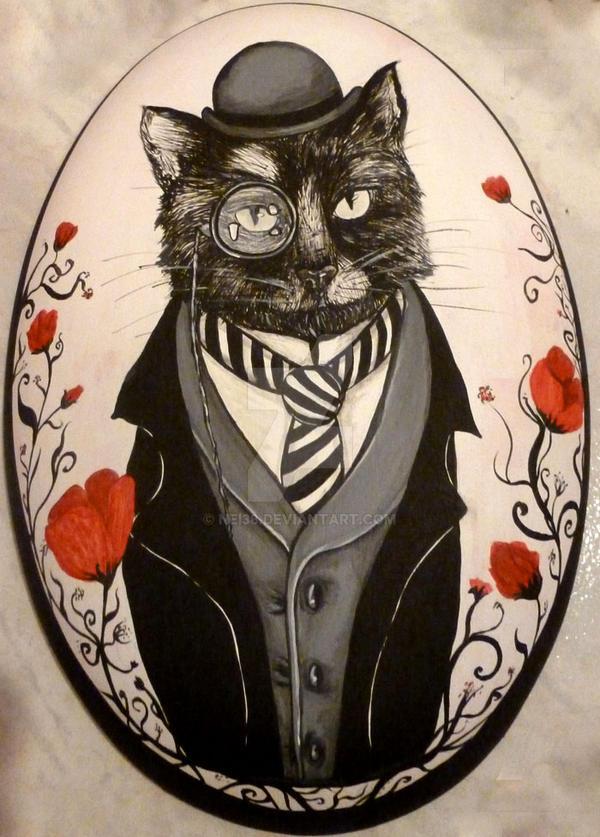 monocle cat by nei38