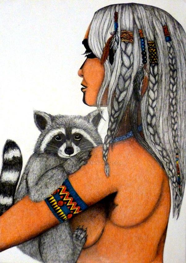 Raccoon girl by nei38
