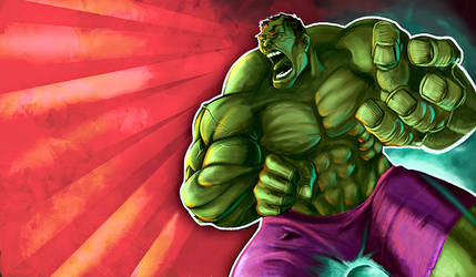 the incredible Hulk by olimueller