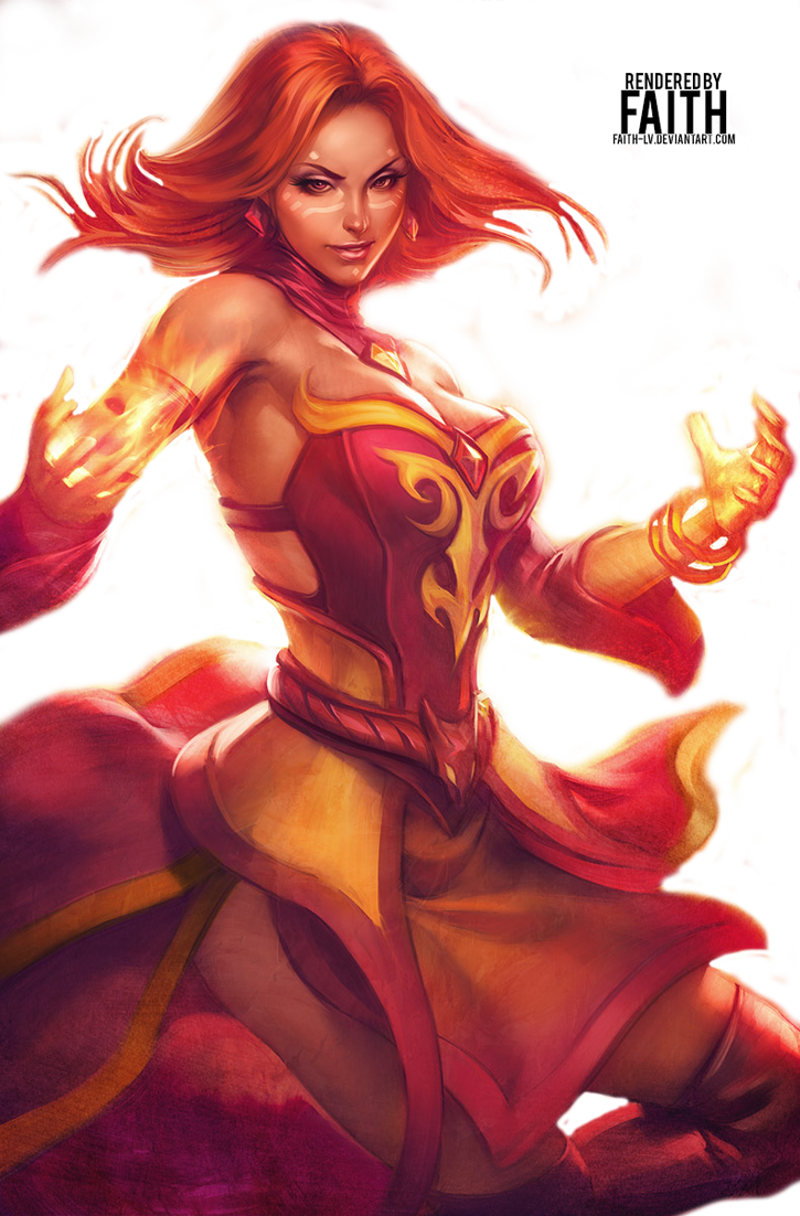 Dota 2 - Lina Render by Faith-LV