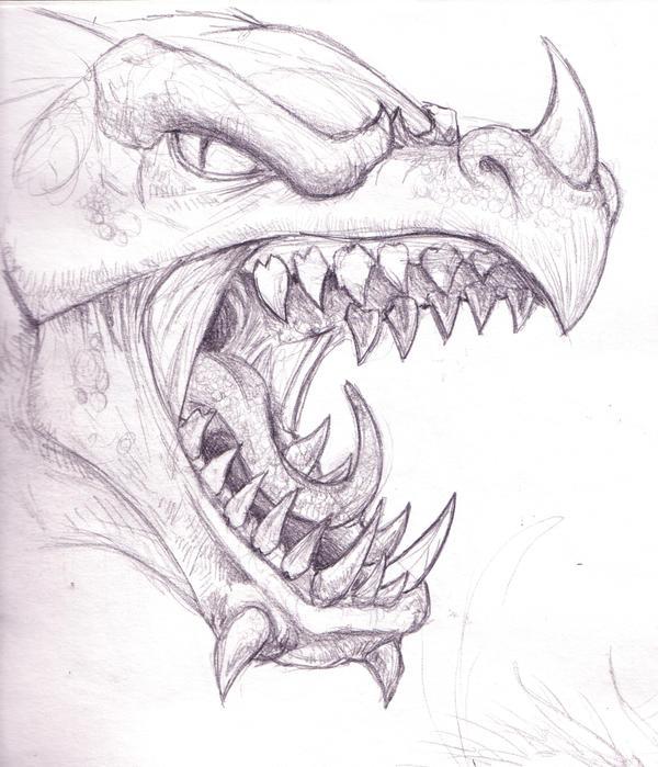 Dragon Head by RichardBlumenstein on DeviantArt