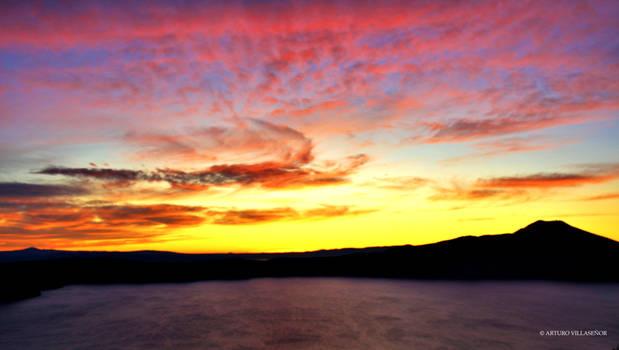 Breaking Dawn at Crater Lake