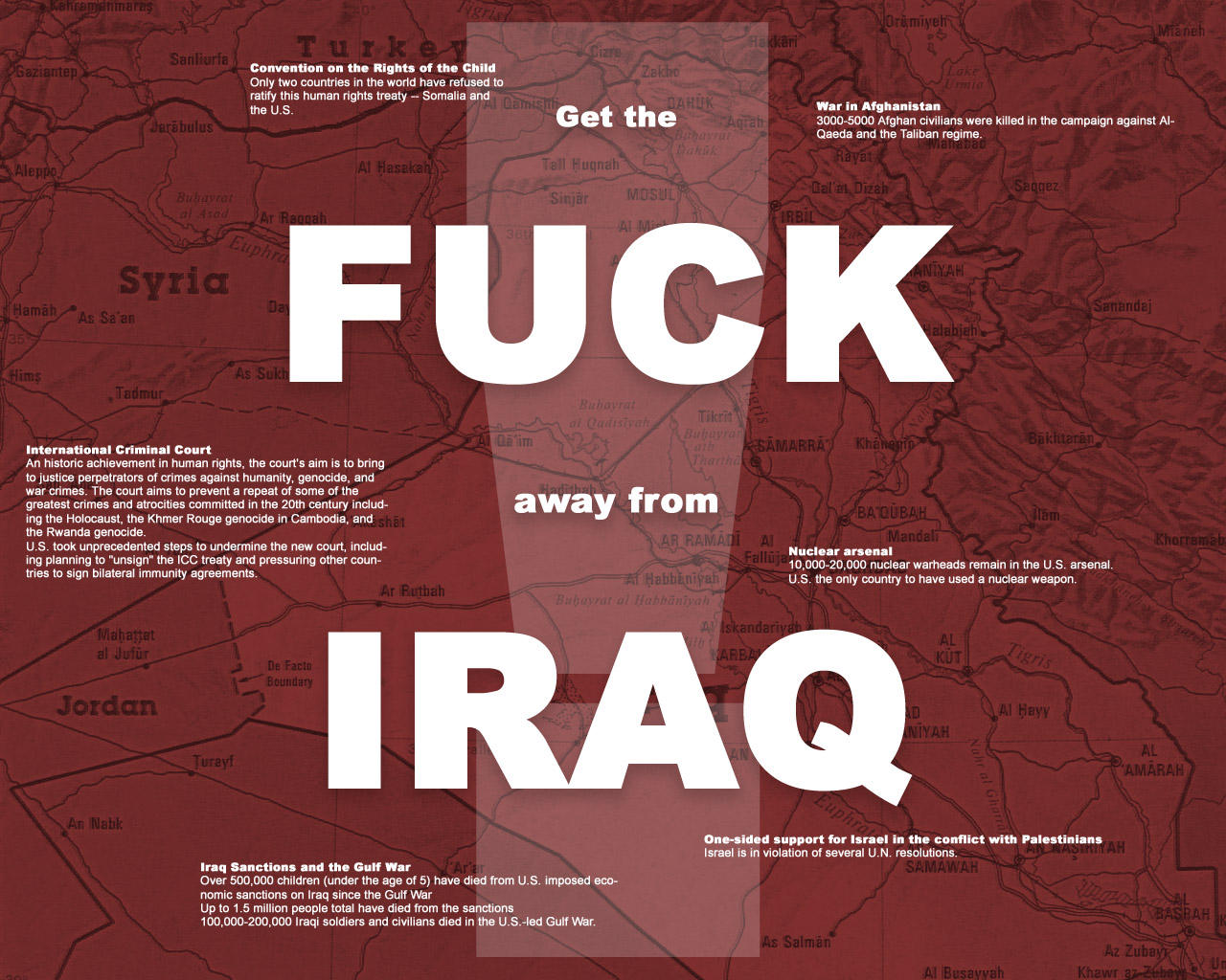 Fuck Iraq - It Starts by valis