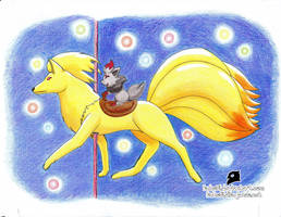 Carrusel Ninetales - lapices by Buho01