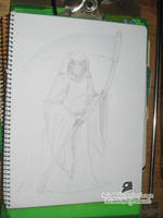 sketch - Lady Muerte by Buho01
