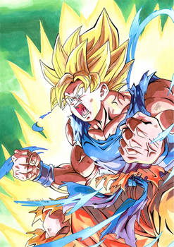 Dragon ball z : Son Goku en mode super guerrier