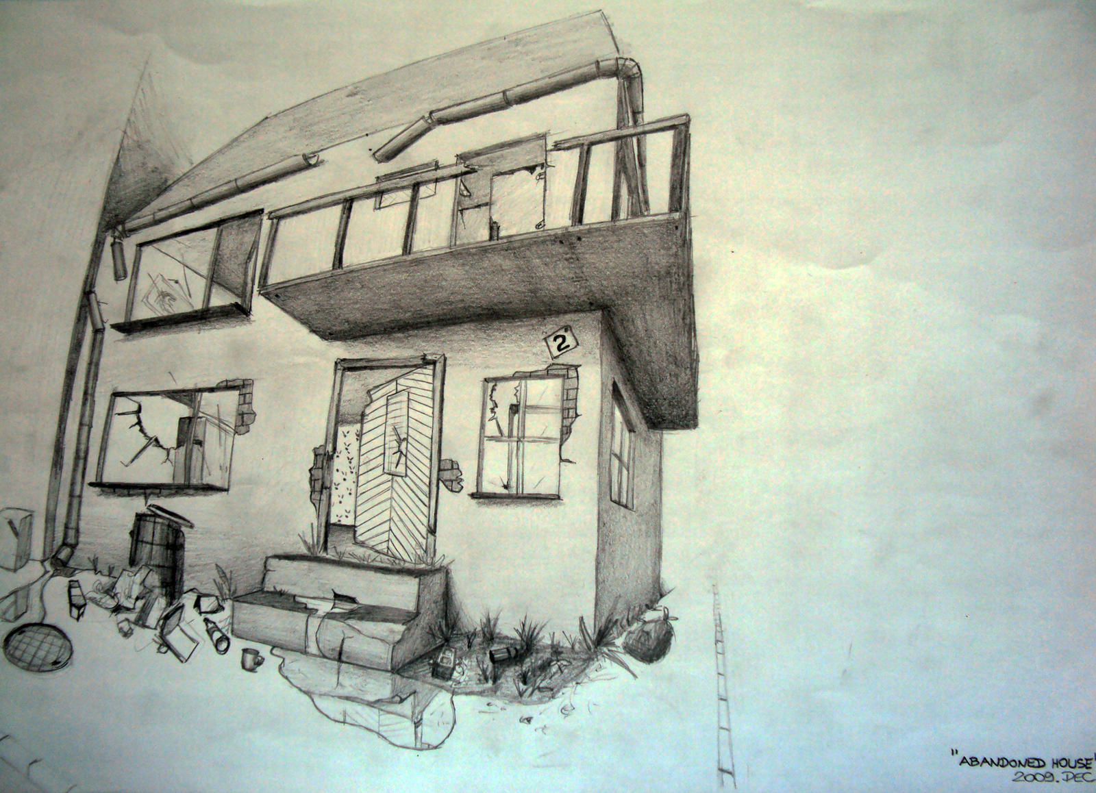 It's just a photo of Punchy Abandoned House Drawing