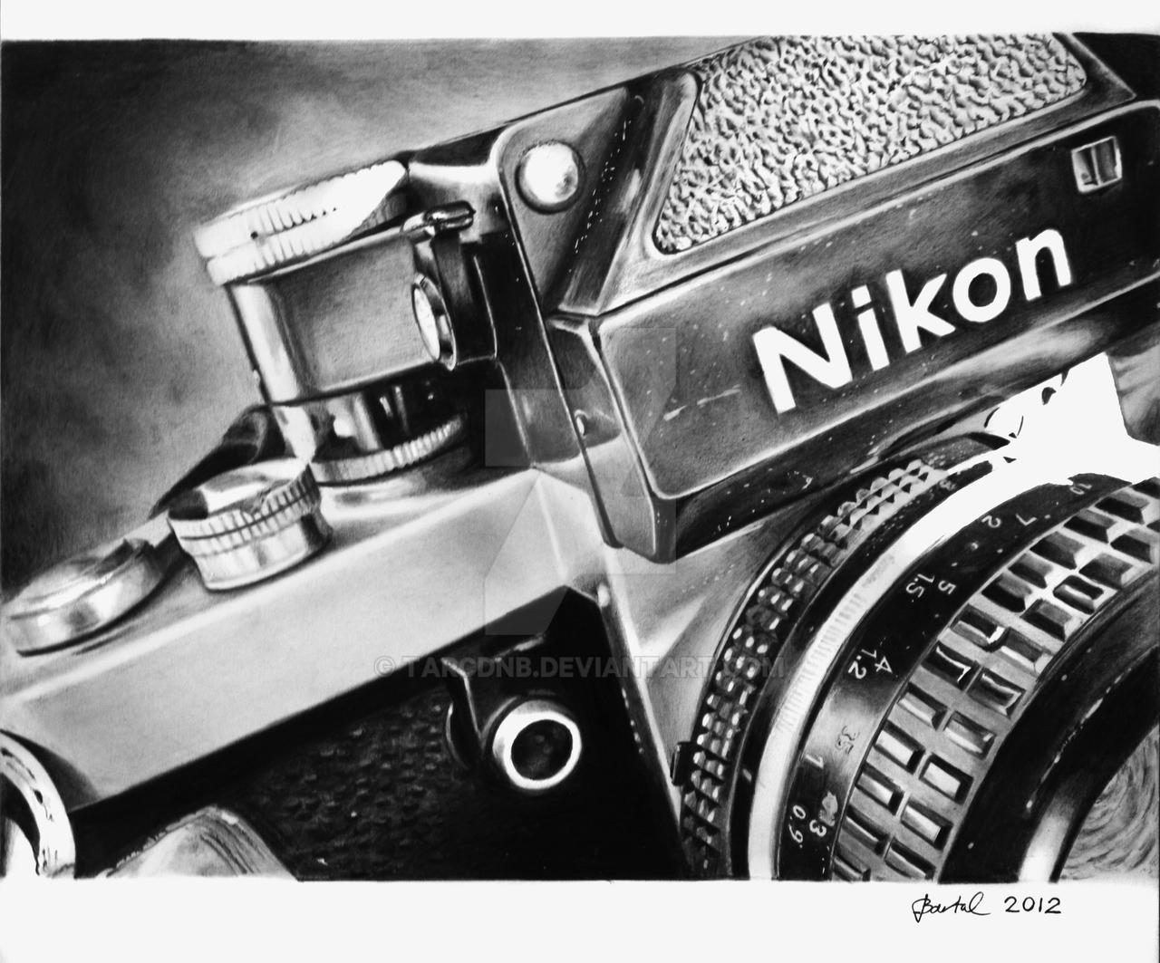 Nikon F2 Camera GraphiteA4 By TarcDnB