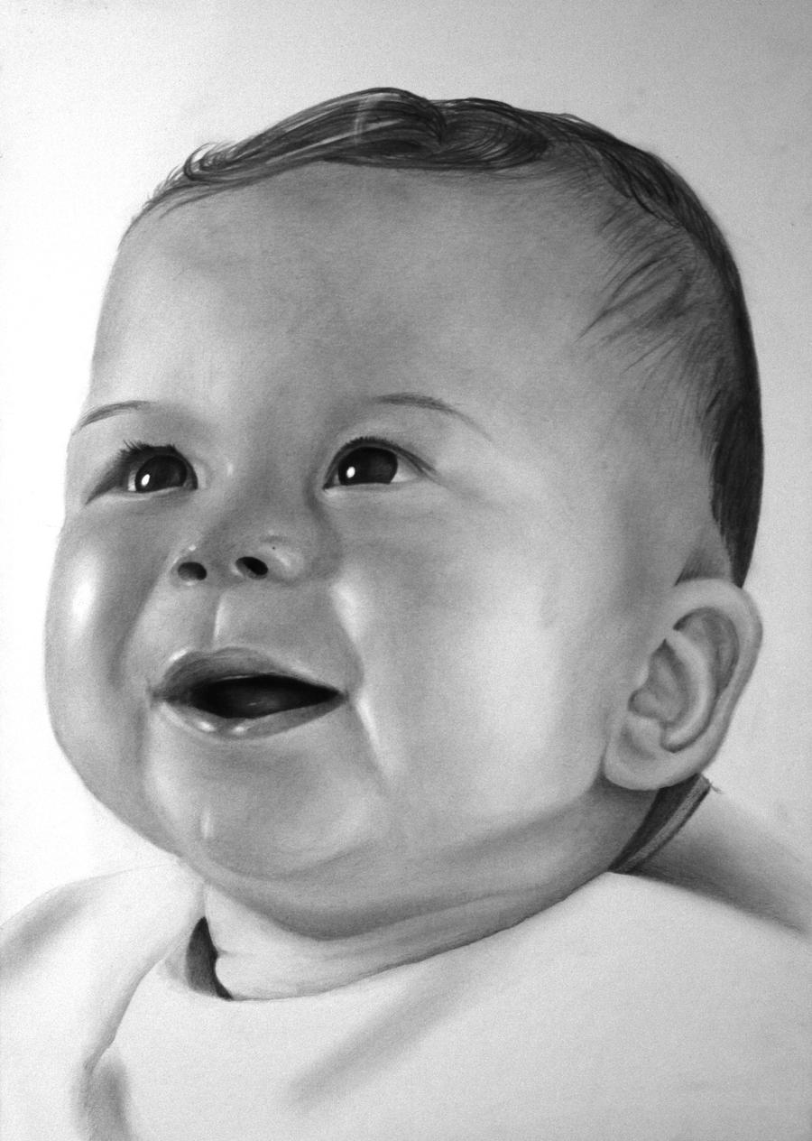 Baby portrait [Graphite] [commission] by TarcDnB on DeviantArt
