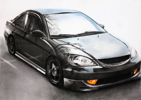 Honda Accord [Graphite+Pastels][A4][commission]