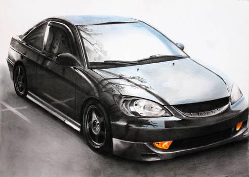 Honda Accord [Graphite+Pastels][A4][commission]