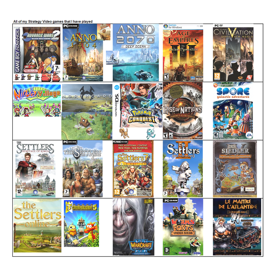 Book Cover Collage Games : Strategy video games covers collage by kingoskar on deviantart