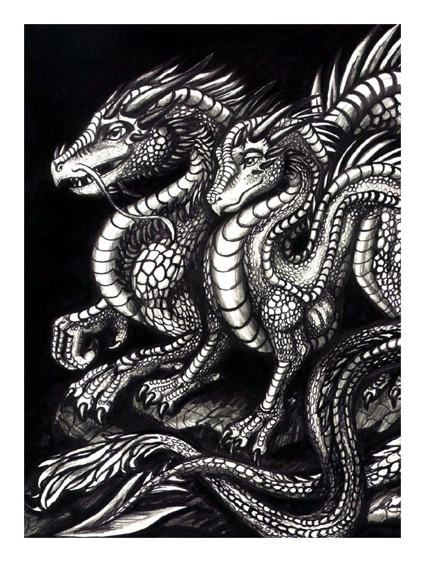 Dragon Couple by TheLaughingVixen