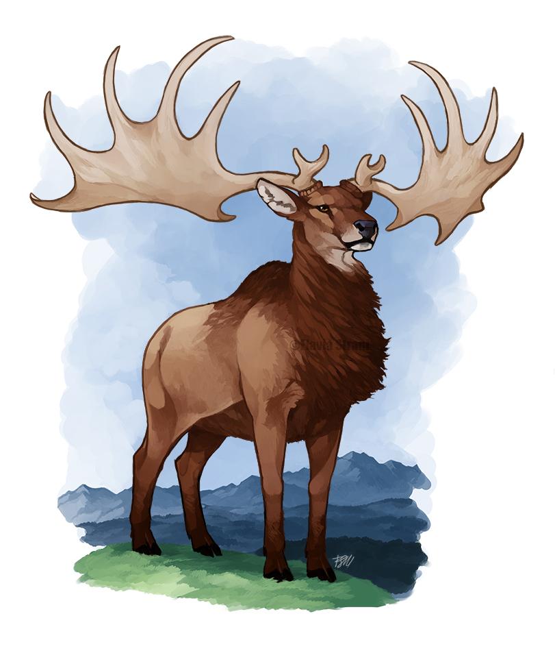 ► Le cerf géant Irish_elk_by_haughtyflaki-d73ymtr