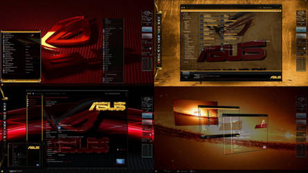 ASUS ROG Desktop Theme for Windows 7 by ionstorm01