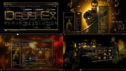Deux Ex Human Revolution Desktop Theme for Win 7 by ionstorm01