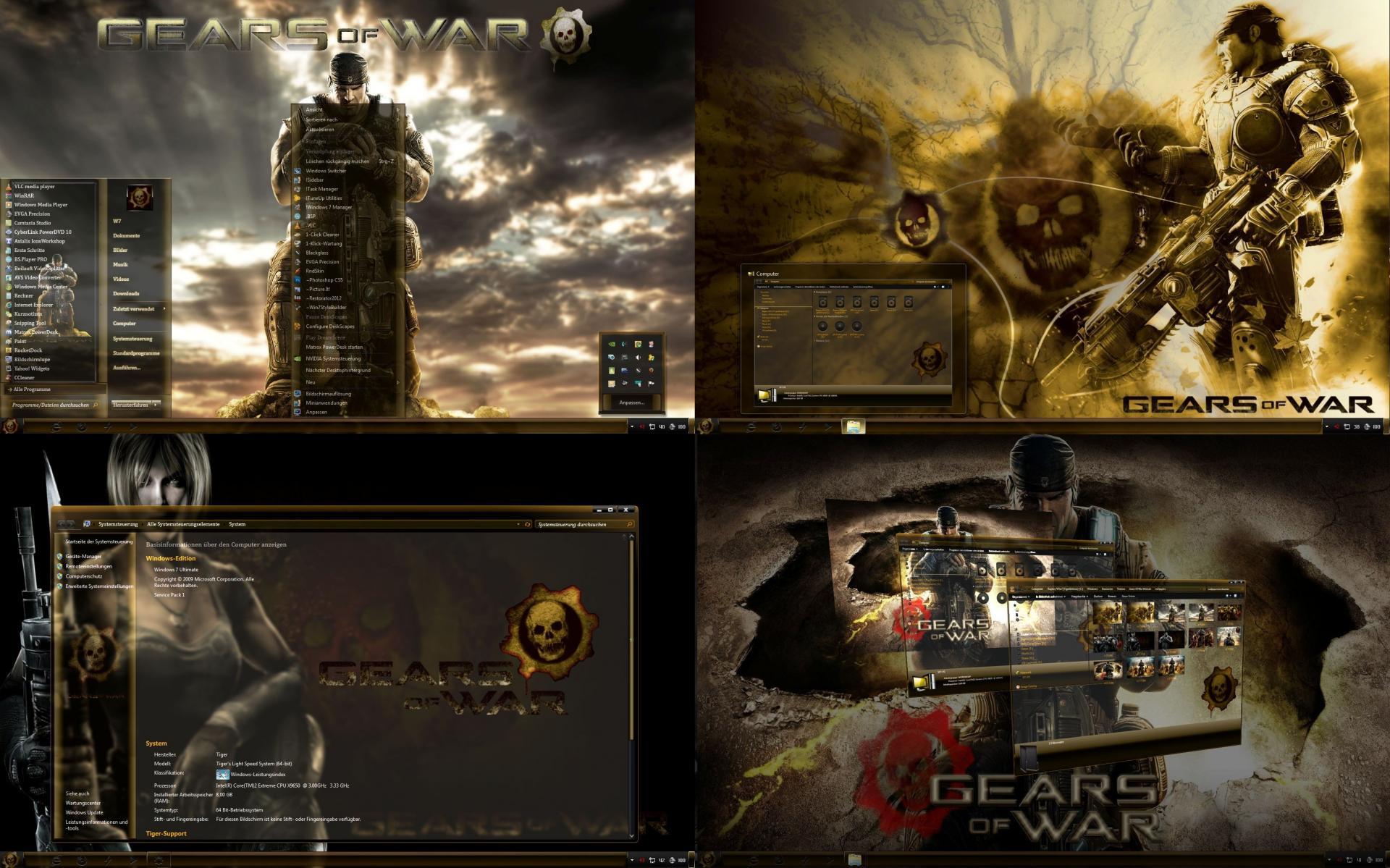 Gears of war theme windows 7